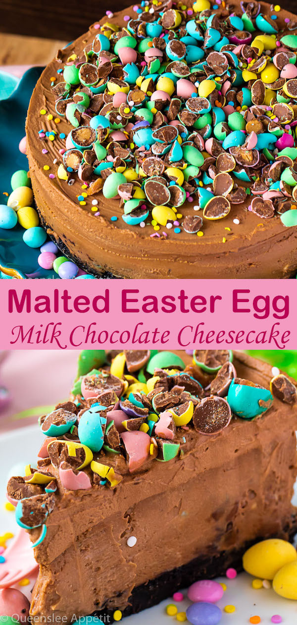 Malted Easter egg Milk Chocolate Cheesecake