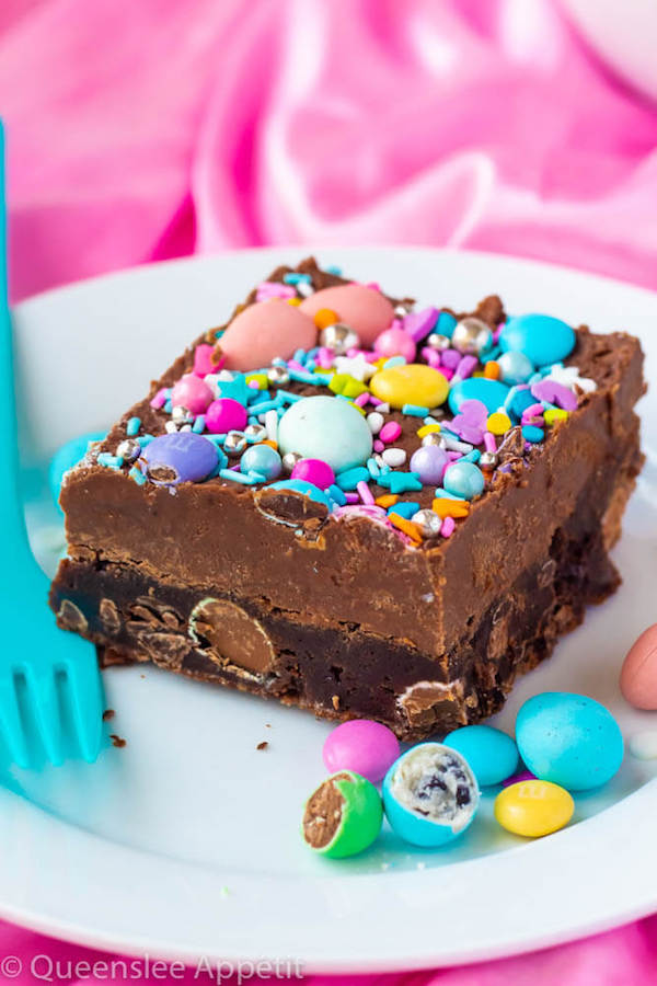 Malted Milk Chocolate Easter Egg Fudge Brownies