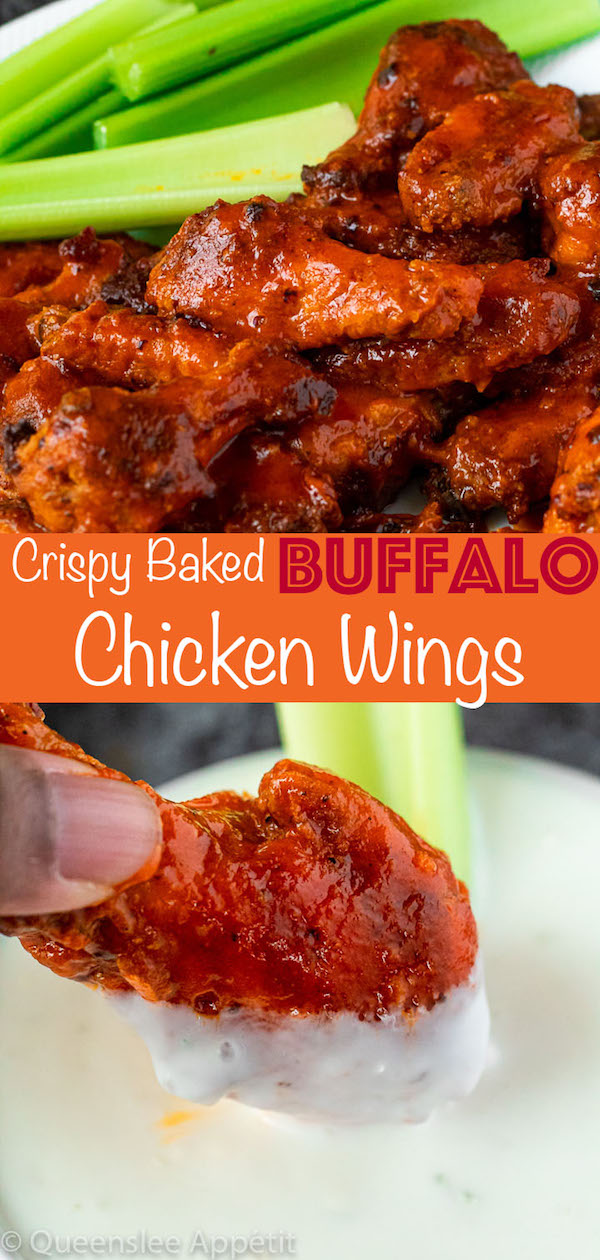 Crispy Baked Buffalo Chicken Wings Pinterest Image