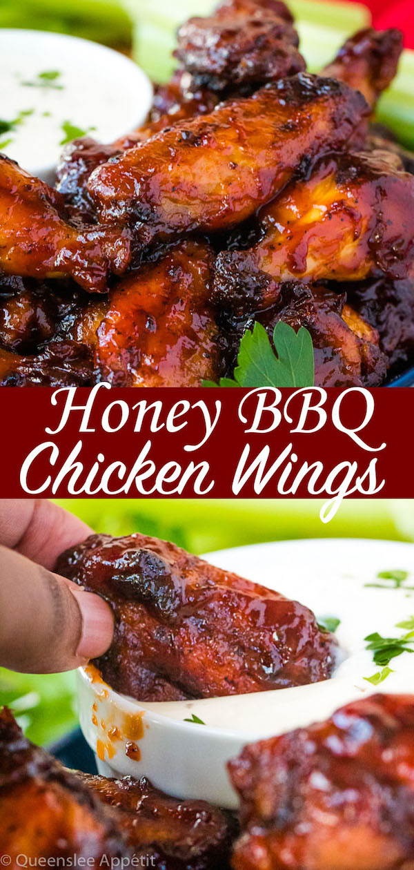 Honey BBQ Chicken Wings with Ranch Dipping Sauce