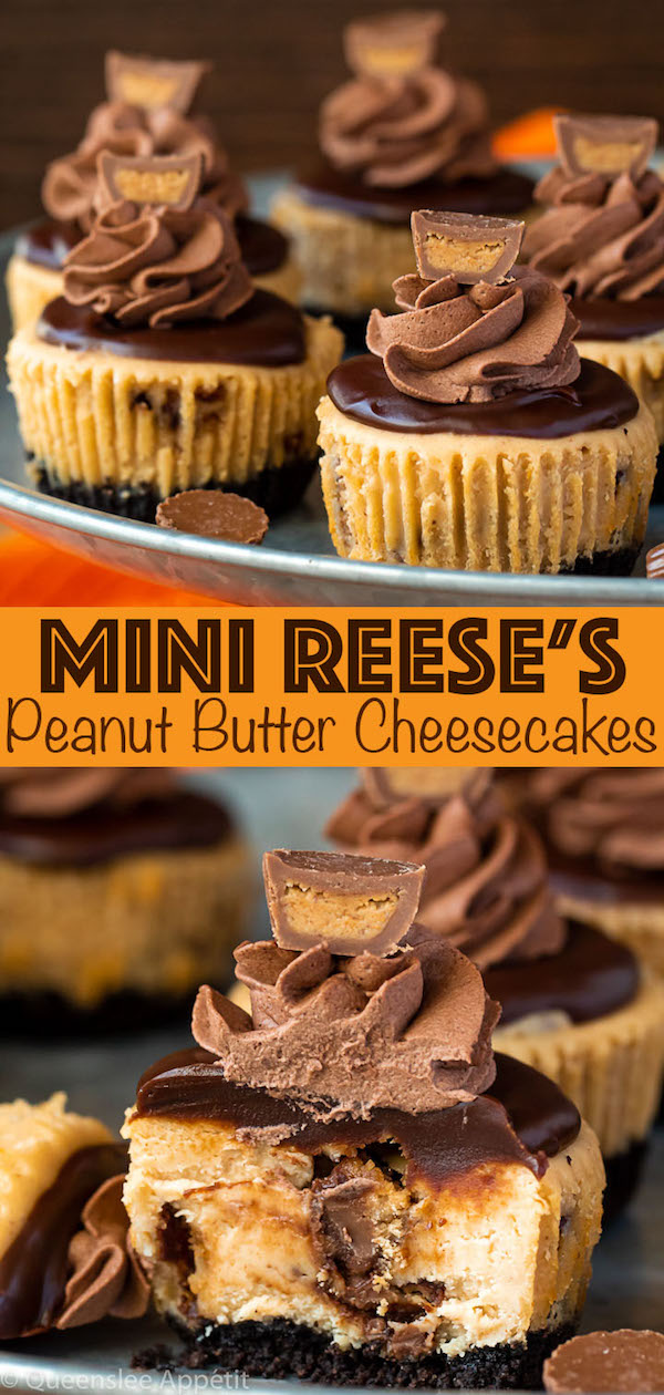 Mini Reese's Peanut Butter Cheesecakes Pinterest Image