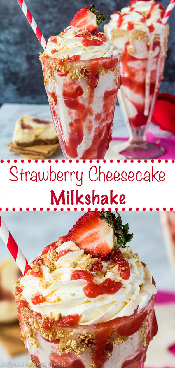 Strawberry Cheesecake Milkshake pinterest image