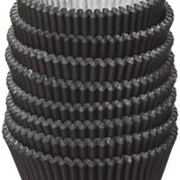 Eoonfirst Standard Size Baking Cups 200 Pcs (Black)