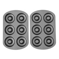 Wilton Non-Stick 6-Cavity Donut Baking Pans, 2-Count