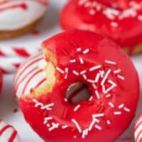 Baked Canada Day Donuts