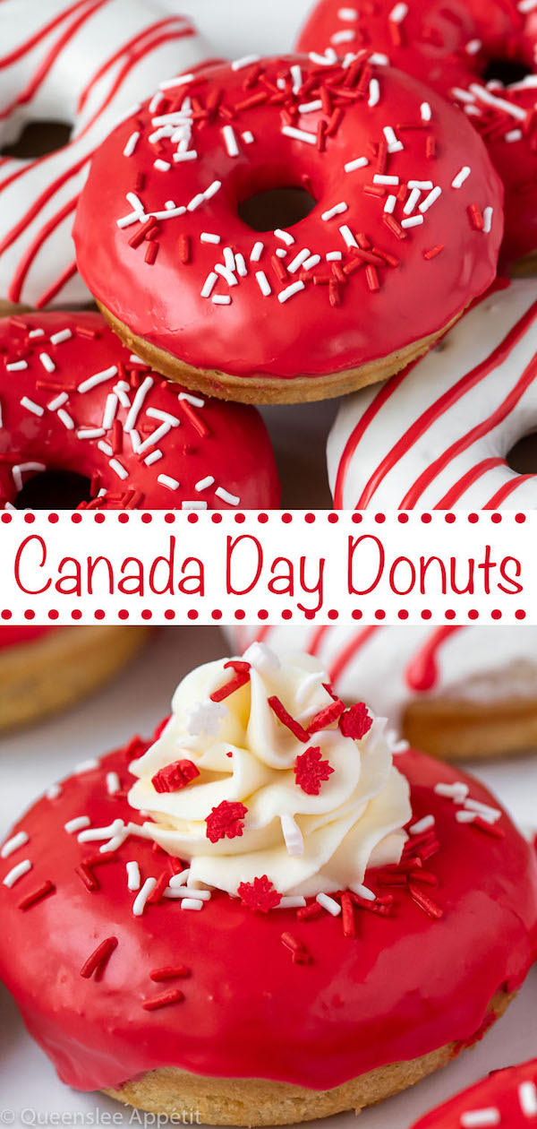 Canada Day Donuts Pinterest Image
