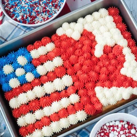 Flag Sheet Cake