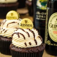 Guinness Chocolate Cupcakes with Baileys Buttercream Frosting