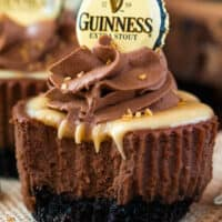 Mini Guinness Chocolate Cheesecakes