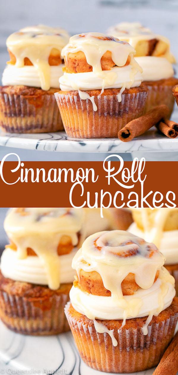 Cinnamon Roll Cupcakes Pinterest Image