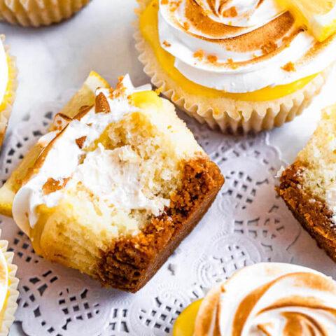 Lemon Meringue S'mores Cupcakes