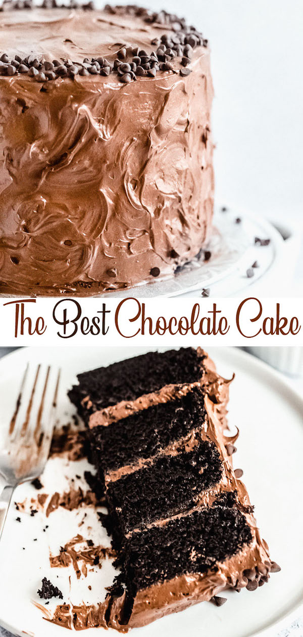 chocolate cake recipe pin image