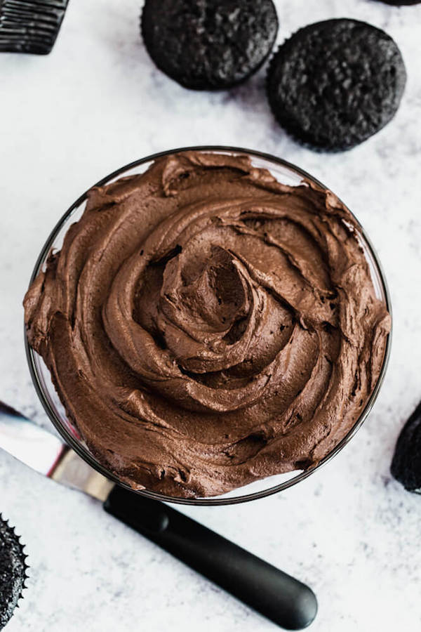 dark chocolate ganache frosting