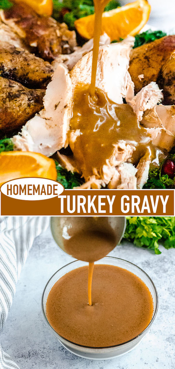 homemade turkey gravy long pin image
