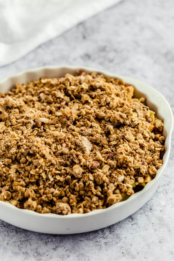 unbaked apple crumble