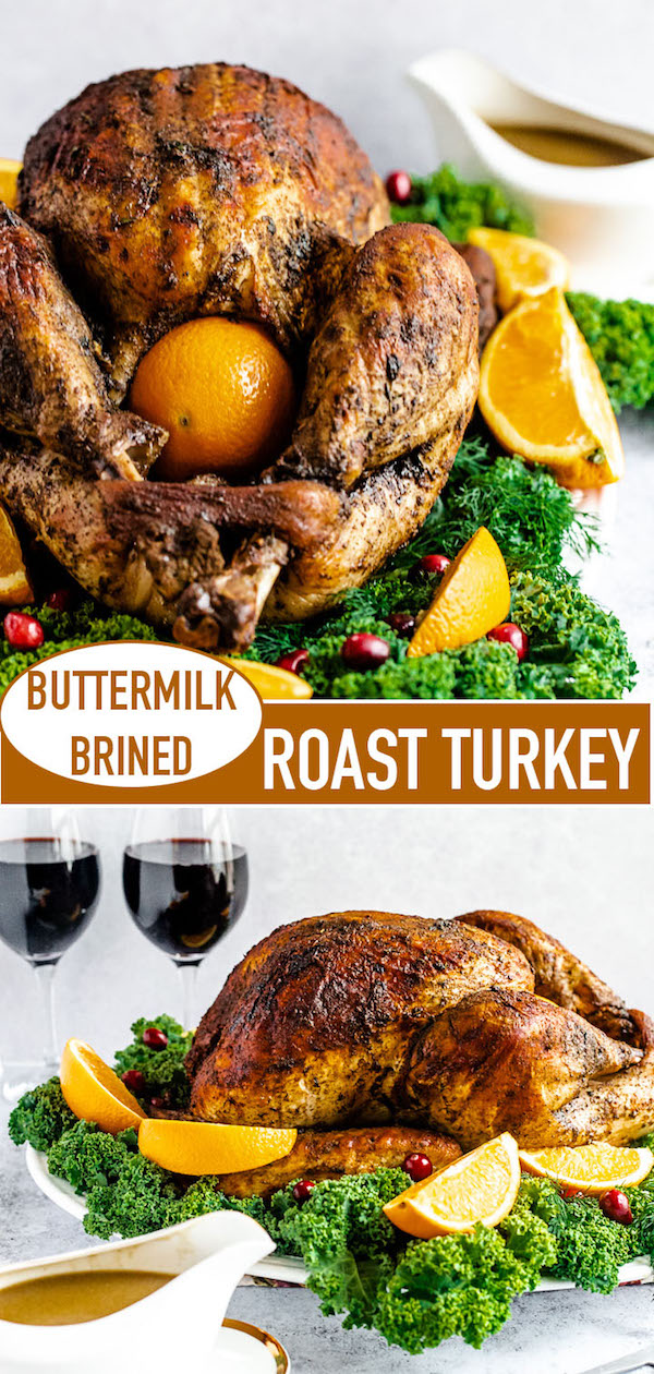 buttermilk roast turkey long pin image