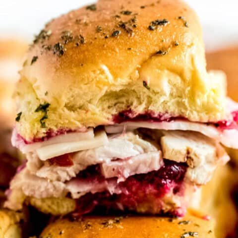 Leftover Thanksgiving Turkey Cranberry Sliders