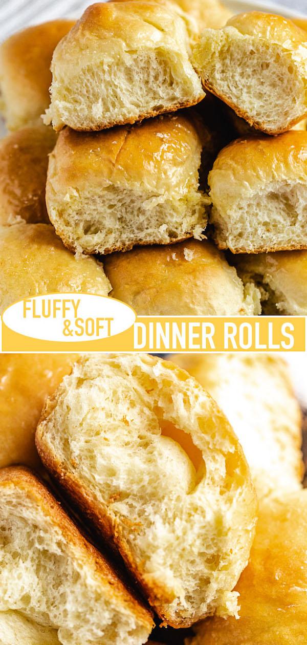 dinner rolls long Pinterest pin image