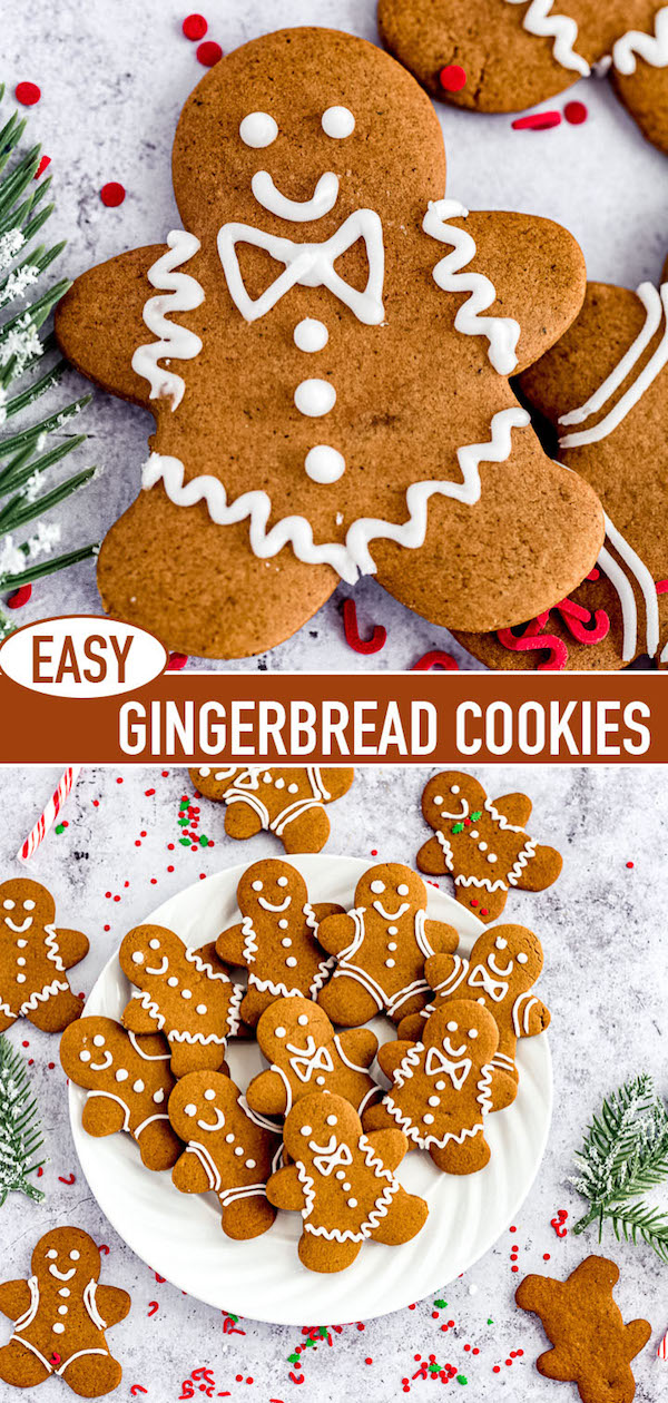 gingerbread cookies long pin image