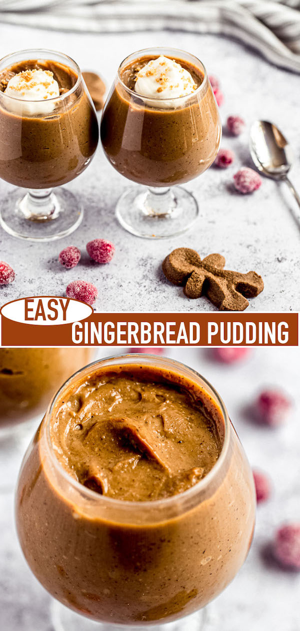gingerbread pudding pinterest image