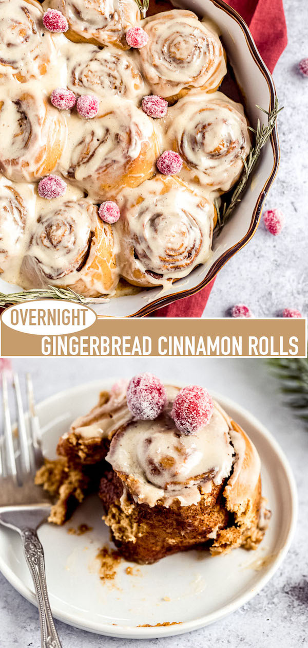 gingerbread cinnamon rolls pin image