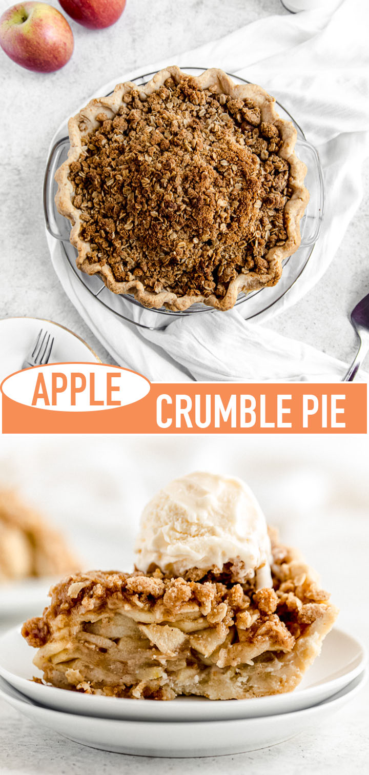 long pin image for apple crumble pie