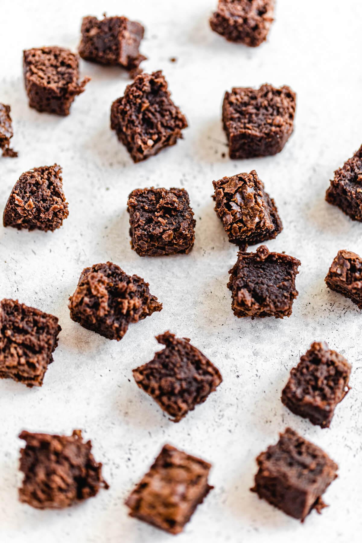 chunks of brownie