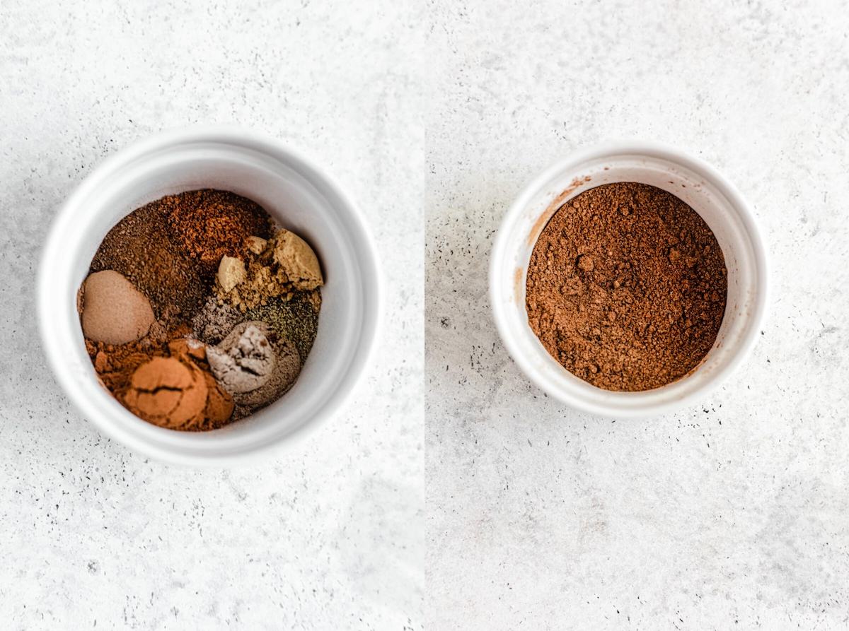 chai spice mix in a ramekin