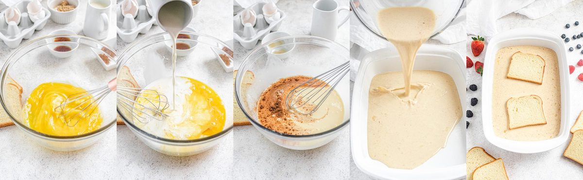 how to make French toast egg mixture step-by-step photos