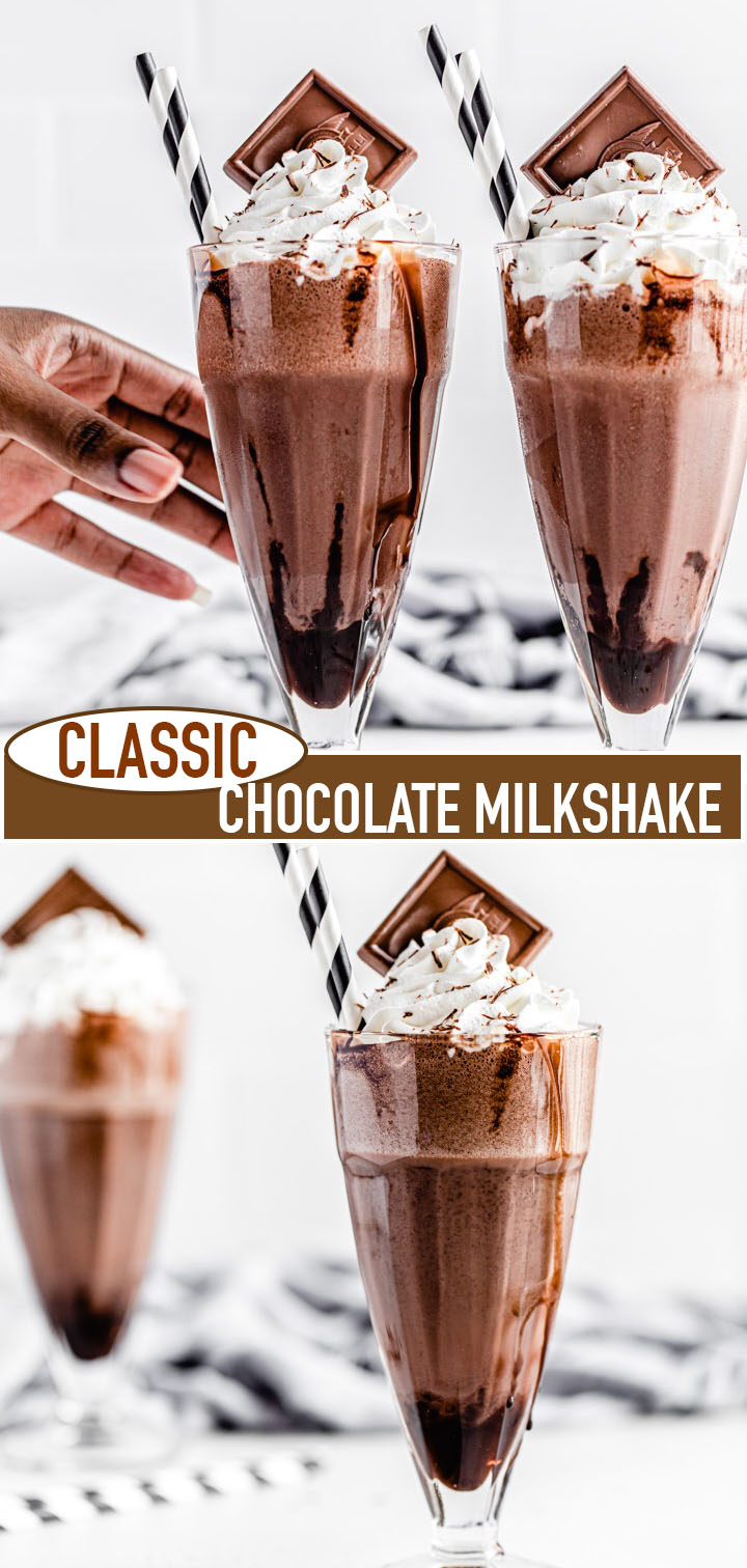 classic chocolate milkshake long pin image