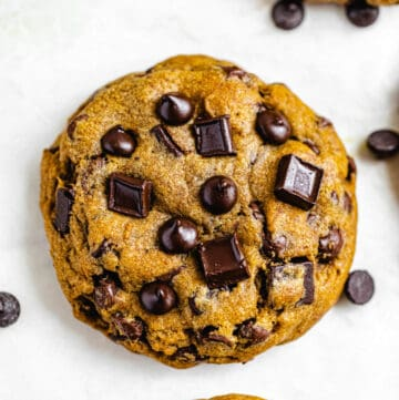 giant chocolate chip cookie close up