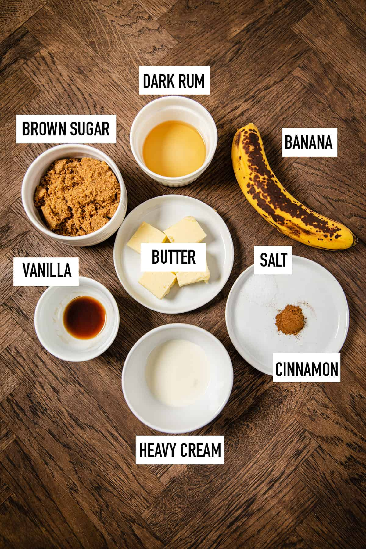 ingredients needed to make bananas foster